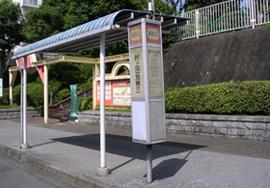 バス停ポール広告